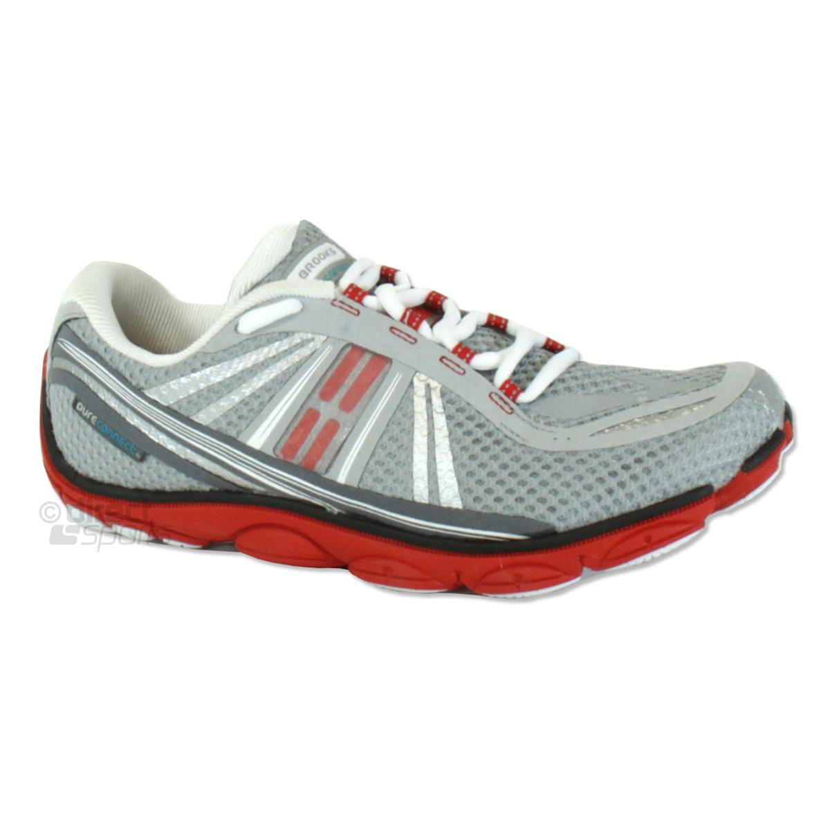 e9986adda9b Brooks PureConnect 3 Mens Running Shoes (River Rock-High Risk Red-Black)
