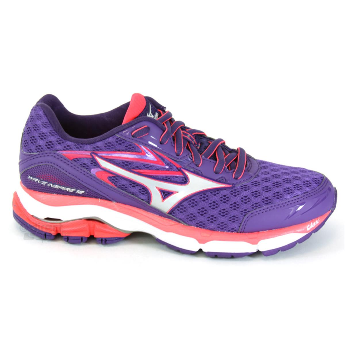 Mizuno Wave Inspire 12 Womens Running Shoes (Royal Purple-Silver-Diva Pink) a5869e0e09def