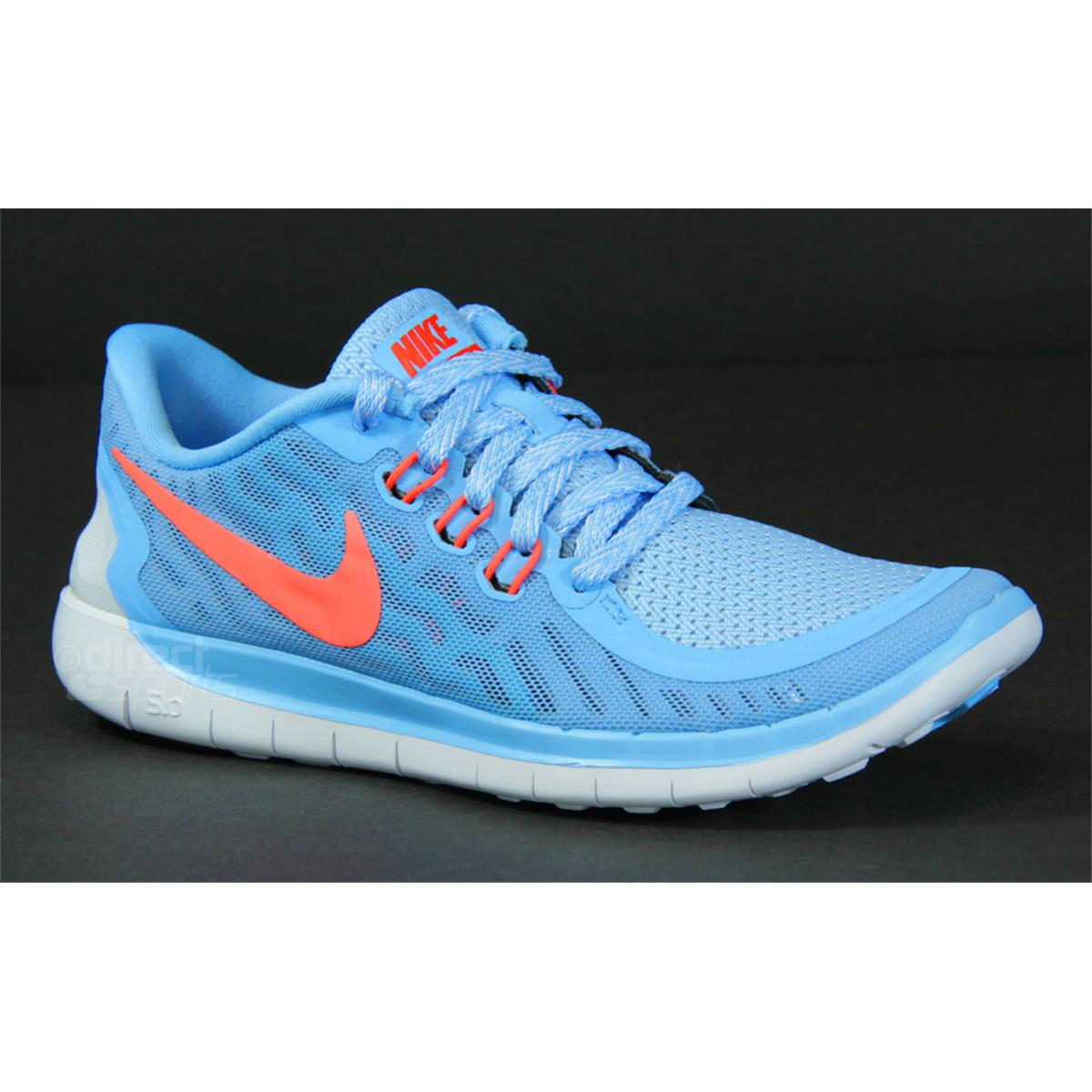 newest ab9bf 3149c Nike Free 5.0 GS Junior Running Shoes (Blue)