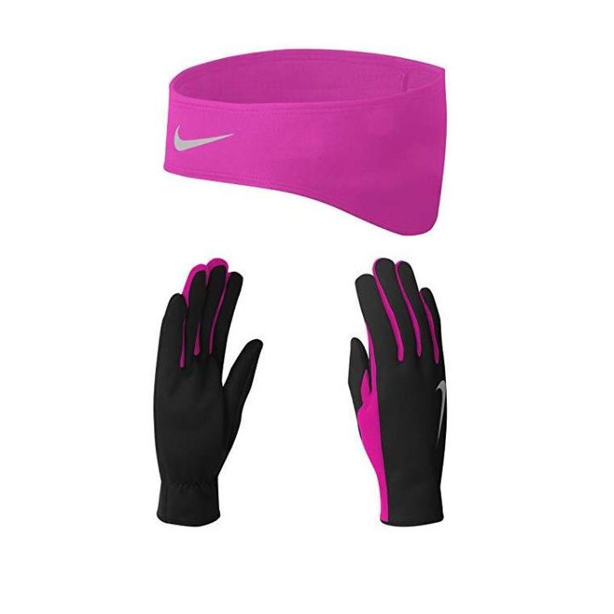 Nike Running Gloves Sports Direct: Nike Dri-Fit Headband And Glove Set Womens (Black-Pink