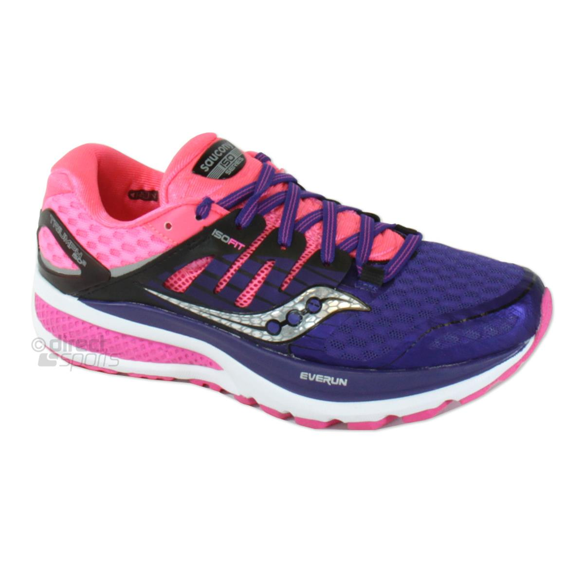 Saucony Triumph ISO 2 Womens Running Shoes (Purple-Pink
