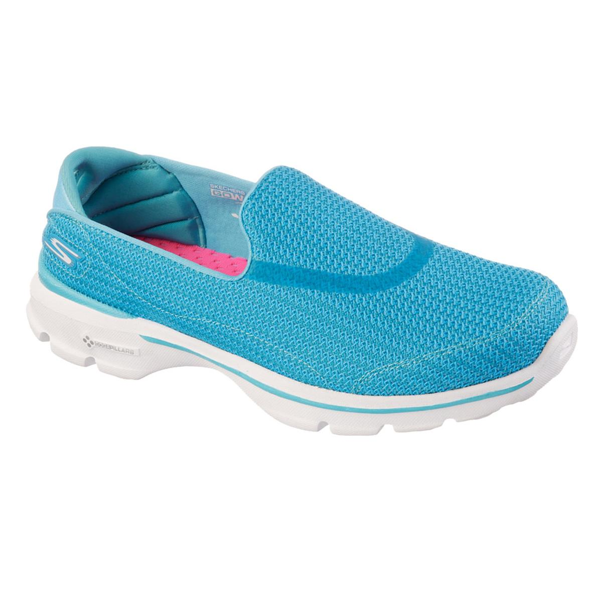 skechers gowalk 3 womens shoes turquoise direct running