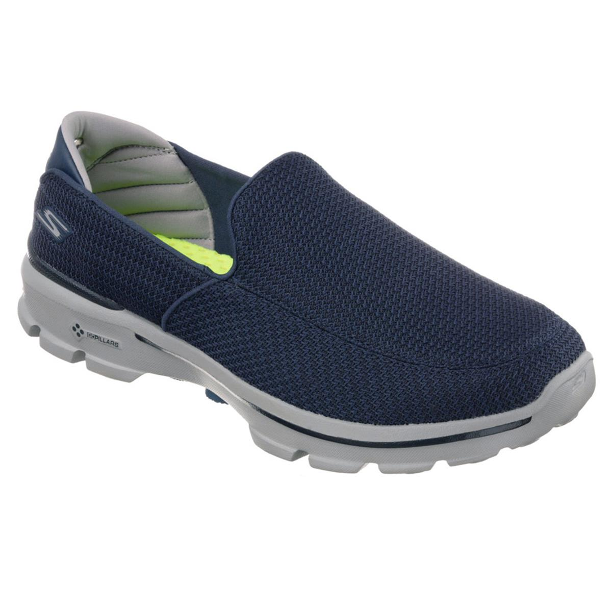 Skechers GoWalk 3 Mens Shoes (Navy) | Direct Running
