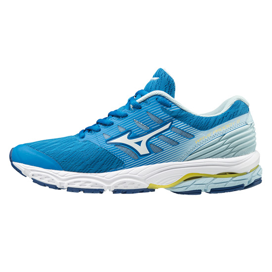 Mizuno Wave Prodigy 2 Womens Running Shoes (Brilliant Blue- White- Cool Blue)