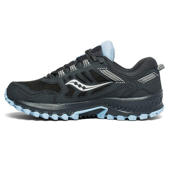 Saucony Excursion TR13 G-TX Womens Trail Running Shoes (Black-Blue)