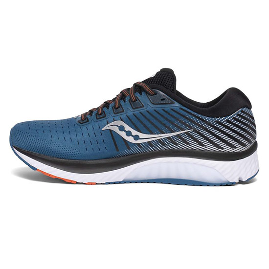 Saucony Guide 13 Mens Running Shoes (Blue-Silver)