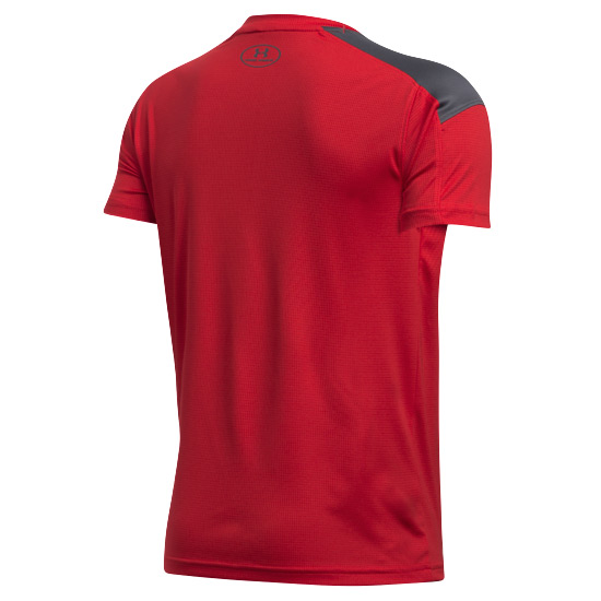Under Armour HeatGear Activate Junior Tee (Red-Graphite)