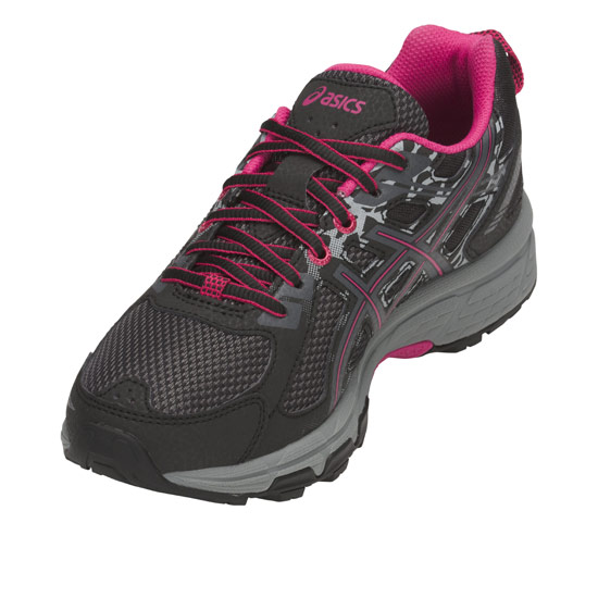 1a06ad47 Asics Venture 6 Womens Trail Running Shoes (Black-Pixel Pink ...