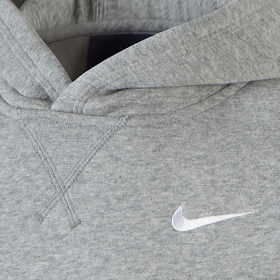 Nike Brushed Fleece Junior Pullover (Grey)