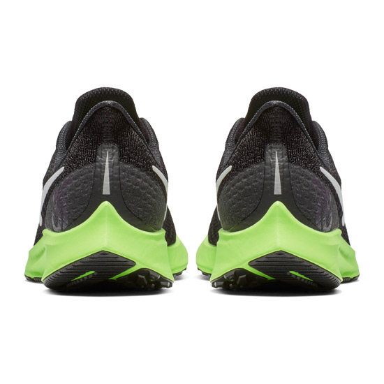 07bfd8f6cce9 Nike Air Zoom Pegasus 35 Junior Running Shoes (Black- Lime Blast ...