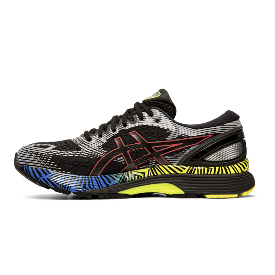 Asics Gel Nimbus 21 Lite Show Mens Running Shoes (Black-Electric Blue)
