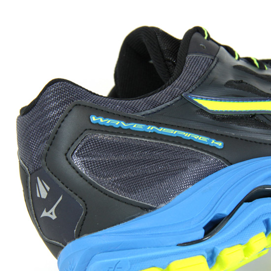 pretty nice 996db 1b6f7 Mizuno Wave Inspire 14 Mens Running Shoes (Ombre Blue-Safety Yellow-Diva  Blue) | Direct Running
