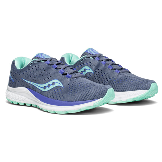 Saucony Jazz 20 Womens Running Shoes (Grey-Aqua-Violet)