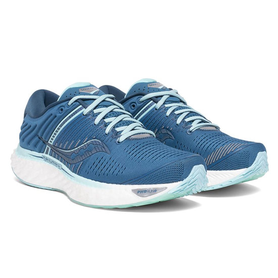 Saucony Triumph 17 Womens Running Shoes (Blue-Aqua)