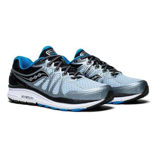 ee3df60ab1 Saucony Echelon 6 Mens Running Shoes (Grey-Black-Blue) | Direct Running