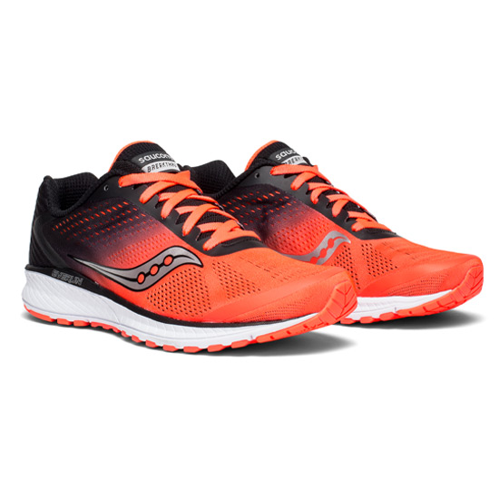 Saucony Breakthru 4 Mens Running Shoes (ViziRed-Black)