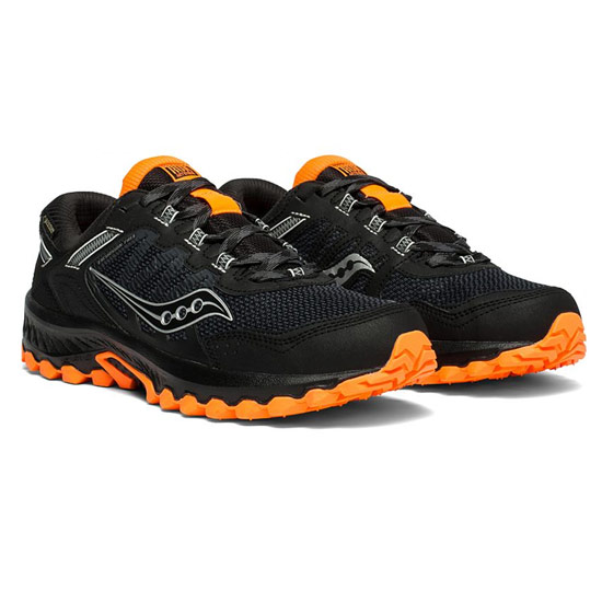 Saucony Excursion TR13 G-TX Mens Trail Running Shoes (Black-Orange)