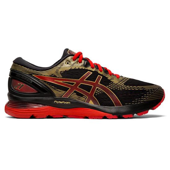 1f2dd91bf1d Asics Gel Nimbus 21 Mens Running Shoes (Black- Rich Gold) | Direct Running