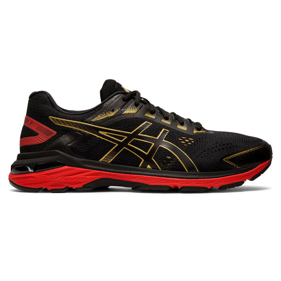 Asics GT 2000 7 Mens Running Shoes (Black- Rich Gold)