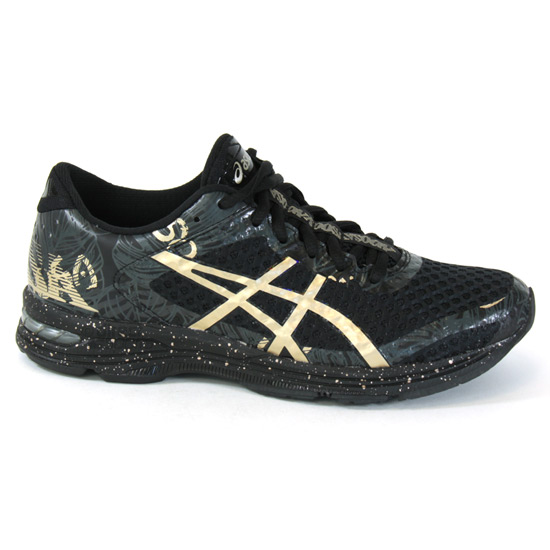 super popular 7d299 1ccb1 Asics Noosa Tri 11 Womens Running Shoes (Black-Gold)