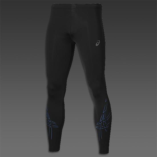 Evacuación estar impresionado Menagerry  Asics Stripe Mens Running Tights (Poseidon) | Asics | All Mens Clothing |  Menswear | Direct Running