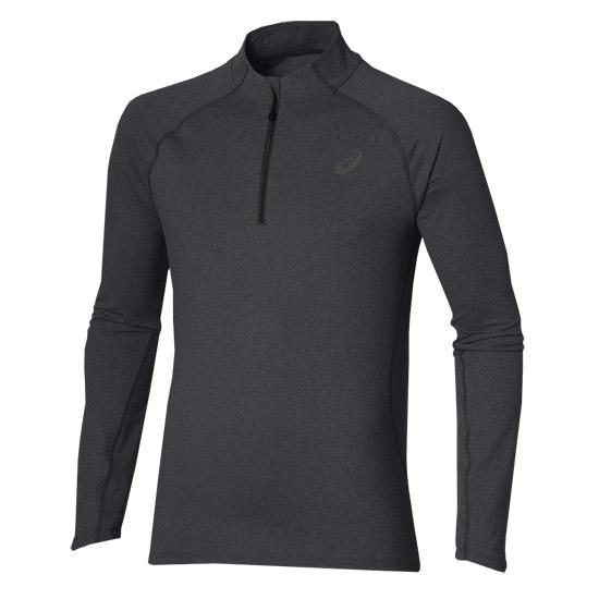 4eb1e5fe239fa Asics Long Sleeve Half Zip Mens Top (Black) | Direct Running