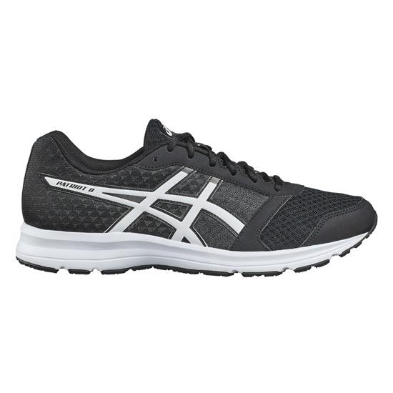 090efb099934 Asics Patriot 8 Mens Running Shoes (Black-White)