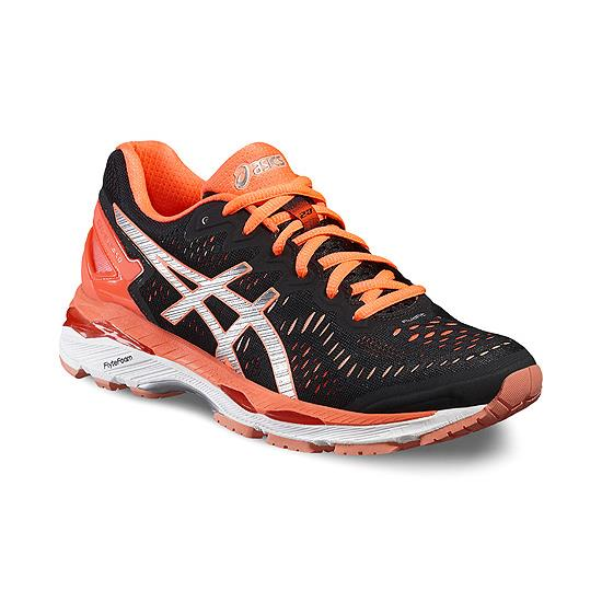 b28ac22e4e05 Asics Gel Kayano 23 Womens Running Shoes (Black-Silver-Coral ...