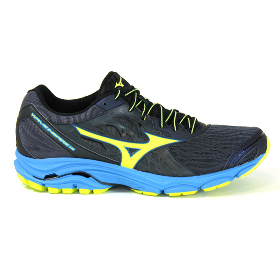 pretty nice 29aa6 465c4 Mizuno Wave Inspire 14 Mens Running Shoes (Ombre Blue-Safety Yellow-Diva  Blue) | Direct Running
