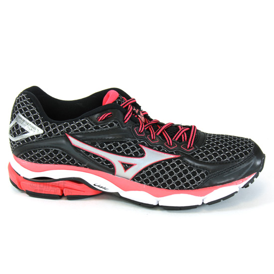 a62ede4973bc Mizuno Wave Ultima 7 Womens Running Shoes (Black-Diva Pink)