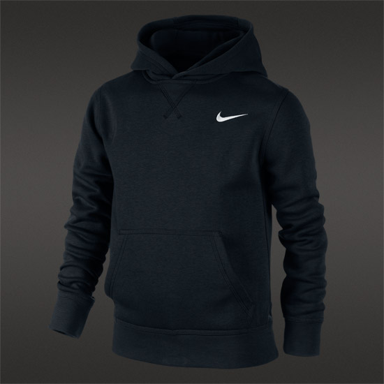 Nike Brushed Fleece Junior Pullover (Black)