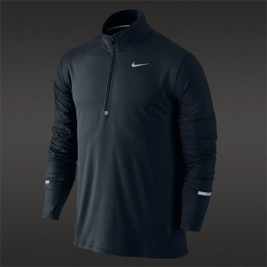 4e93f762 Nike Dri-Fit Element Half Zip Mens Top (Black) | Direct Running
