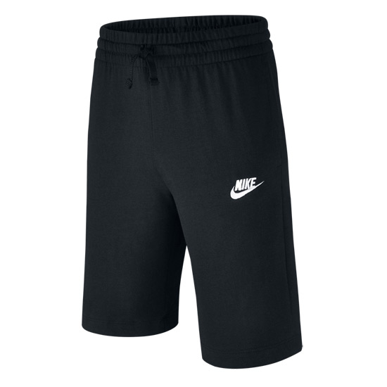 Nike Jersey Junior Shorts (Black-White)