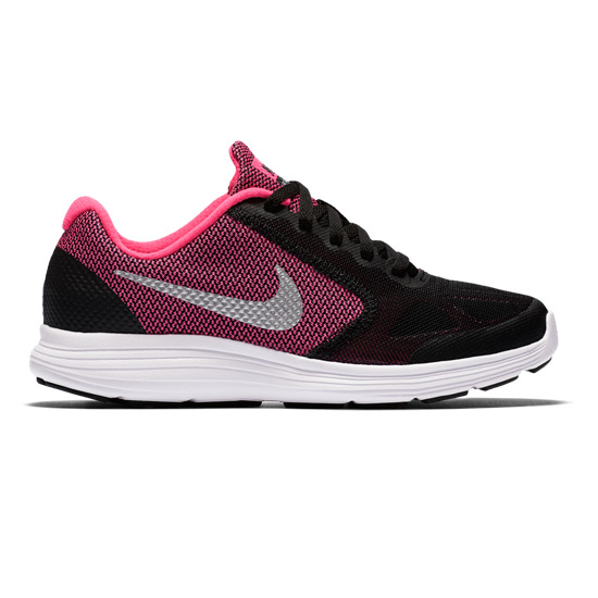 buy online 36291 b9751 Nike Revolution 3 Junior Running Shoes (Black-Pink)