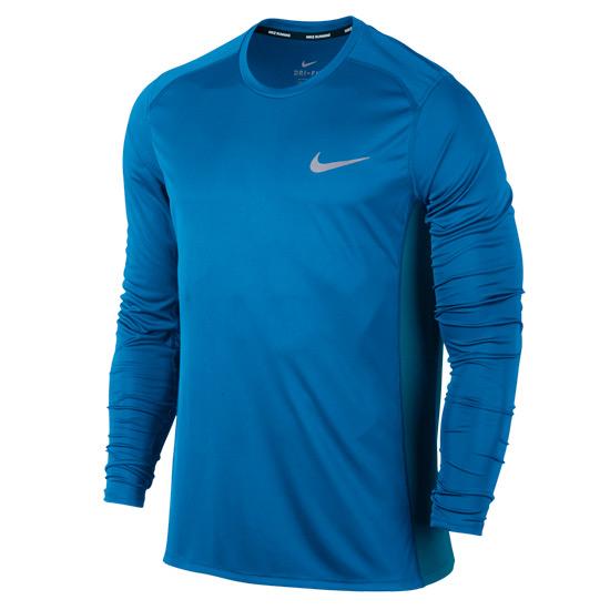 843777ad5 Nike Dry Miler Mens Long Sleeve Top (Blue) | Direct Running