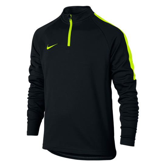 Nike Dry Academy Junior Drill Top (Black-Volt)