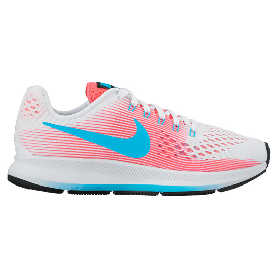 info for 2ae6b cb248 Nike Zoom Pegasus 34 GS Junior Running Shoes (White-Pink)