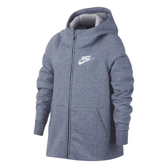 Nike Girls Full Zip Hoodie (Ashen Slate)