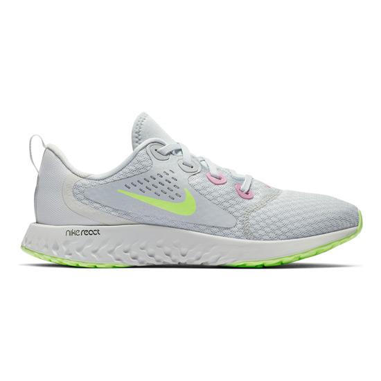 new styles 02421 79a3d Nike Legend React Junior Running Shoes (Platinum- Volt tint)