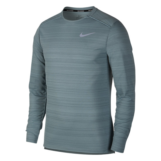 31083beec Nike Dry Miler Mens Longsleeve T-Shirt (Aviator Grey) | Direct Running