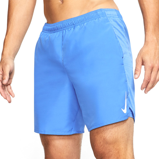 Nike Challenger 7 Inch 2 in 1 Mens Shorts (Pacific Blue-Reflective Silver)