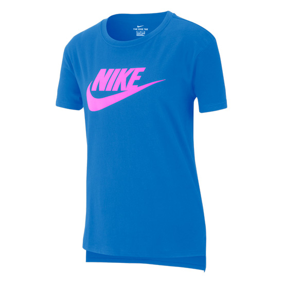 Nike Swoosh Droptail Basic Futura Junior Tee (Photo Blue-Pink)