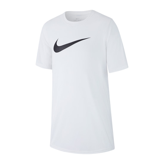 Nike Dri-Fit Legend Swoosh Tee (White)