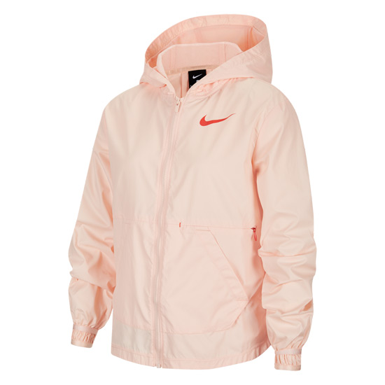 Nike Junior Training Jacket (Washed Coral-Track Red)