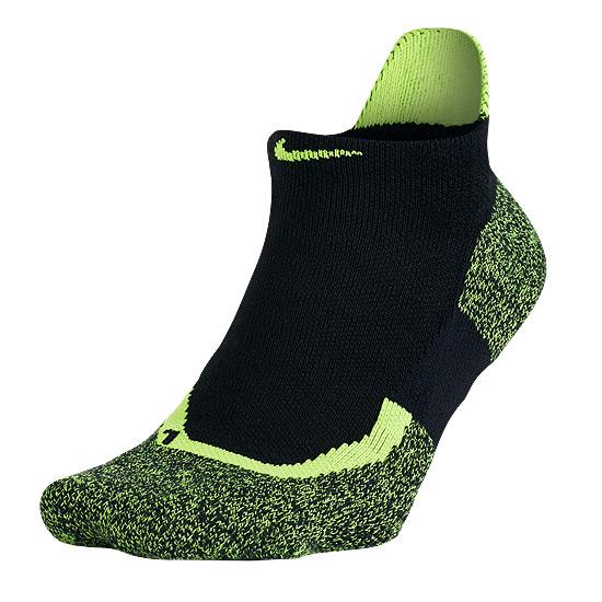 4075f61bc Nike Elite Cushioned No-Show Socks (Black-Volt) | Direct Running