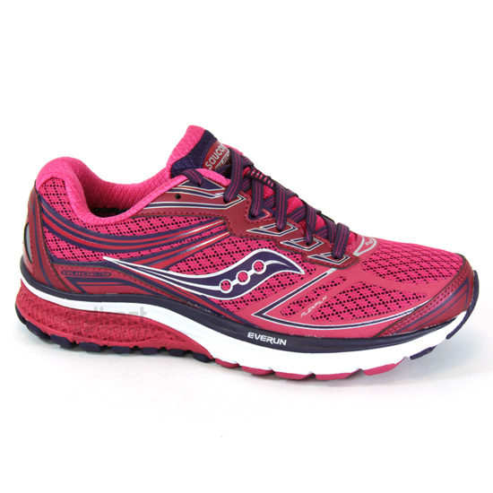 75747f8ebae3 Saucony Guide 9 Womens Running Shoes (Pink)