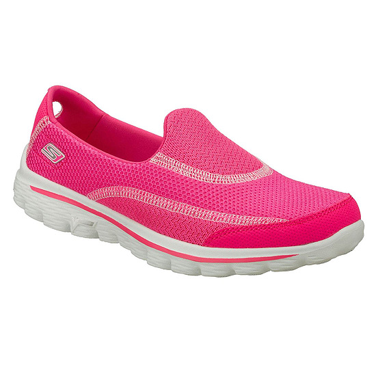 separation shoes 7e4ed 419dc Skechers Go Walk 2 Womens Shoes (Hot Pink)
