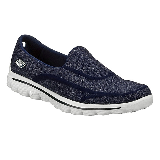 1cdb6b83c3c5f Skechers Go Walk 2 Super Sock Womens Shoes (Navy) | Direct Running