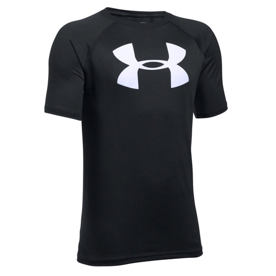 Under Armour Tech Big Logo Short Sleeve Tee (Black-White)