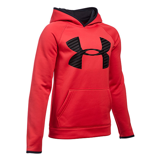 Under Armour Storm Cotton Highlight Junior Hoody (Red)